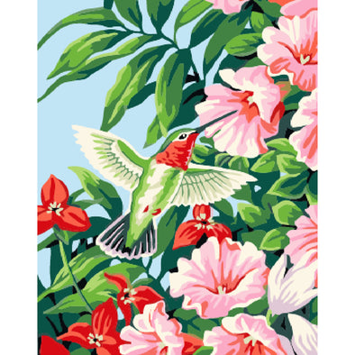 40x50cm - Paint By Numbers Spring Flower Bird