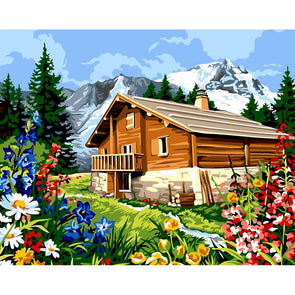 40x50cm - Paint By Numbers Flower Cottage