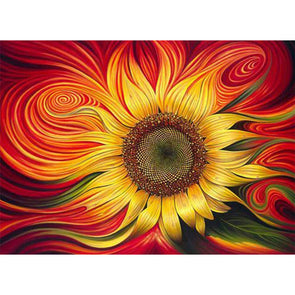 40x50cm - Paint By Numbers Vortex Sunflower