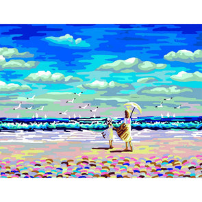 40x50cm - Paint By Numbers Beach Sea Gull