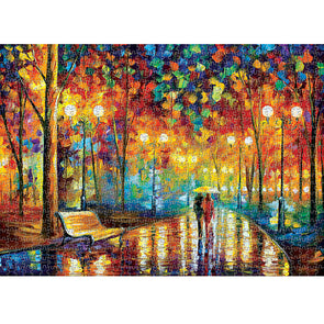 1000pcs Paper Puzzles DIY Jigsaw Walking in Rain Kids Adult Educational Toy