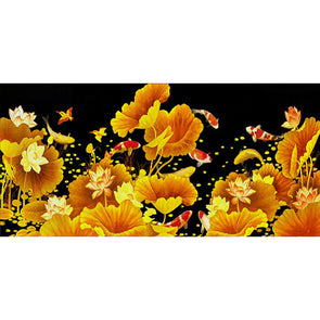 100*50CM Special Shaped Diamond Painting-Lotus And Fish