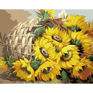 40*50CM Paint By Numbers-Basket Sunflower