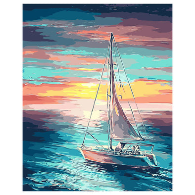 40*50CM Paint By Numbers-Sailing