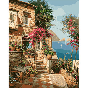 40*50CM Paint By Numbers-Seaside Villa ?