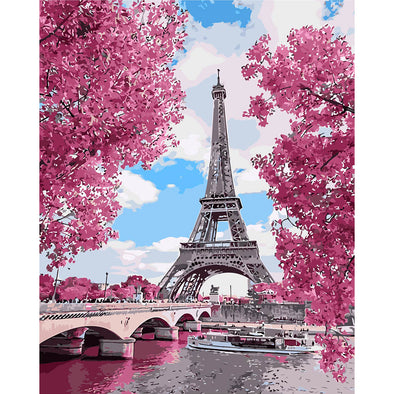 40*50CM Paint By Numbers-Eiffel Tower