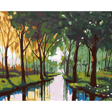 40*50CM Paint By Numbers-Green Forest