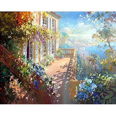40*50CM Paint By Numbers-Flower House