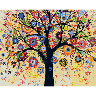 40*50CM Paint By Numbers-Colorful Tree