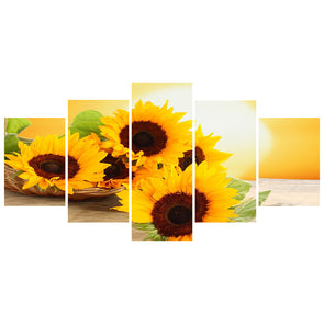 95*45CM Multi-picture Diamond Painting-5pcs-Sunflower