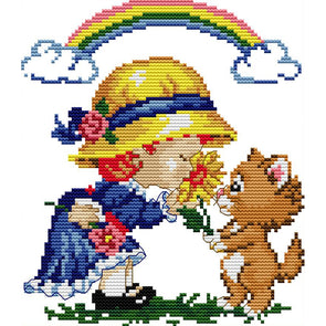 20*22CM Cross Stitch-Happiness Time