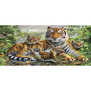 100*50CM Round Drill Diamond Painting-Tiger