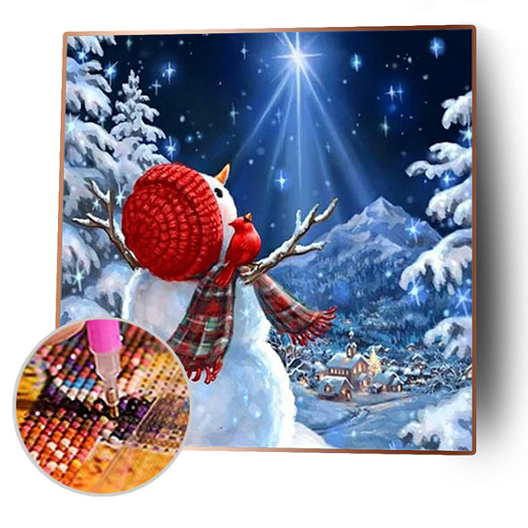 30*30CM Round Drill Diamond Painting-Christmas