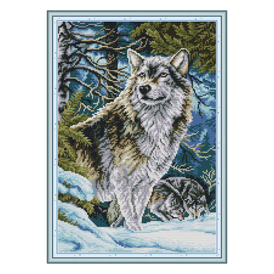 Head wolf - Cross Stitch - 31*42cm