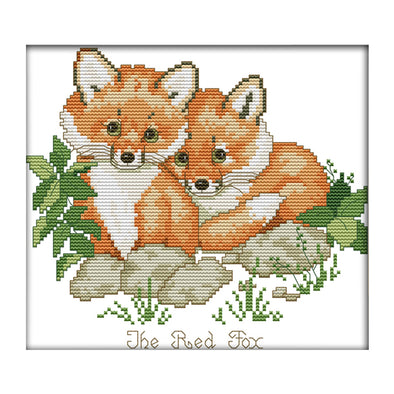 Red Fox - 14CT Stamped Cross Stitch - 26*21cm