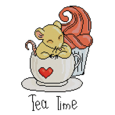 Afternoon Tea - 14CT Stamped Cross Stitch - 33*26cm