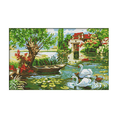Home Of Love - 14CT Stamped Cross Stitch - 70*46cm
