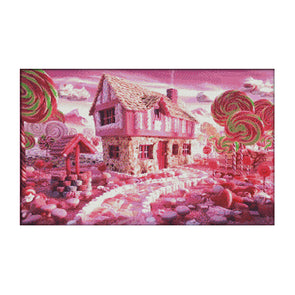 Fairy Tale House - 14CT Stamped Cross Stitch - 62*41cm