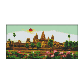 Angkor Holy Land - 14CT Stamped Cross Stitch - 68*36cm