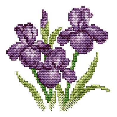 Flower Of Happiness - 14CT Stamped Cross Stitch - 17*17cm