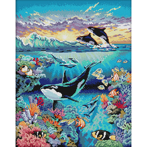 Underwater World - 14CT Stamped Cross Stitch - 40*49cm