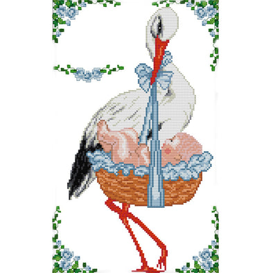Red-Crowned Crane - 14CT Stamped Cross Stitch - 27*41cm