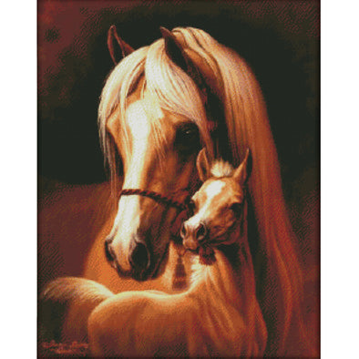 Mother And Child Love - 14CT Stamped Cross Stitch - 51*62cm