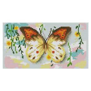 Butterfly - 14CT Stamped Cross Stitch - 28*16cm