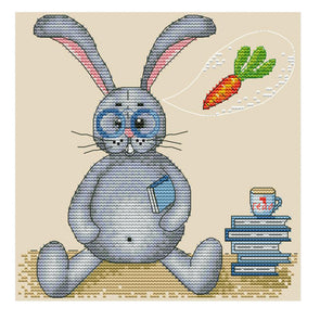 Rabbit Who Loves To Eat Radish - 14CT Stamped Cross Stitch - 21*21cm