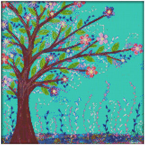 Yearning For Spring - 14CT Stamped Cross Stitch - 36*36cm