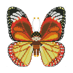 Butterfly Doll - 14CT Stamped Cross Stitch - 20*19cm