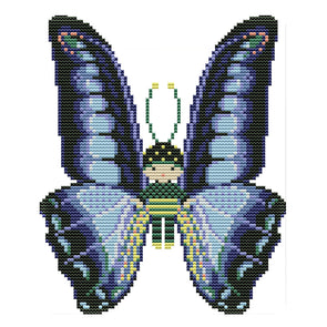 Butterfly Doll - 14CT Stamped Cross Stitch - 22*19cm