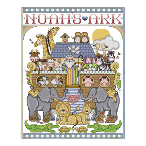 Noah'S Ark - 14CT Stamped Cross Stitch - 45*55cm