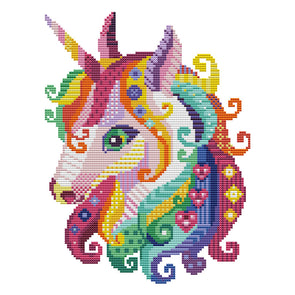 Unicorn - 14CT Stamped Cross Stitch - 30*22cm