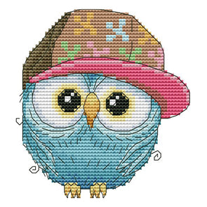 Owl In A Hat - 14CT Stamped Cross Stitch - 16*15cm