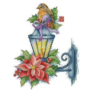 Bird On The Lamp - 14CT Stamped Cross Stitch - 32*26cm