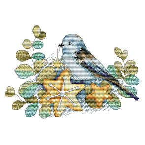 Little Bird And Its Baby - 14CT Stamped Cross Stitch - 27*19cm
