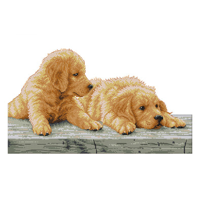 Two Brothers - 14CT Stamped Cross Stitch - 44*30cm