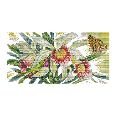 Dielianhua - 14CT Stamped Cross Stitch - 42*25cm