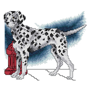 Dalmatian - 14CT Stamped Cross Stitch - 21*19cm