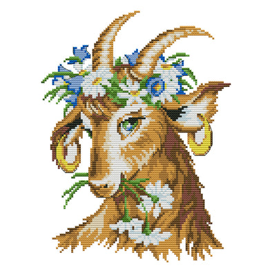Beautiful Lamb - 14CT Stamped Cross Stitch - 32*25cm