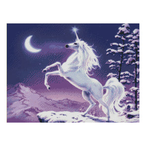 Unicorn - 11CT Stamped Cross Stitch - 55*39cm