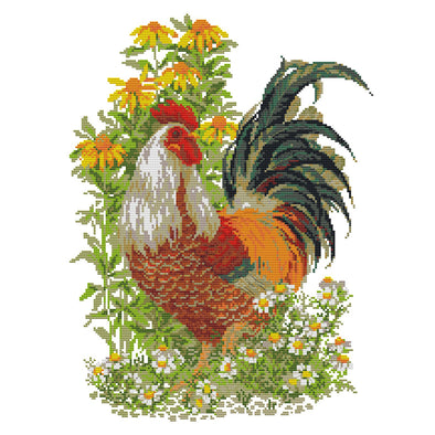Rooster - 14CT Stamped Cross Stitch - 37*48cm