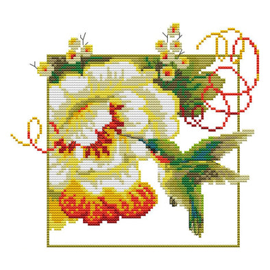 Hummingbird - 14CT Stamped Cross Stitch - 26*22cm