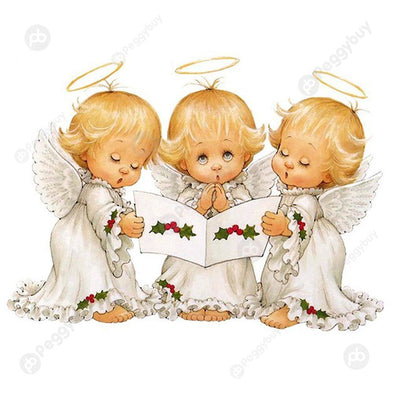 30*40CM Special Shaped Diamond Painting-Three Little Angels