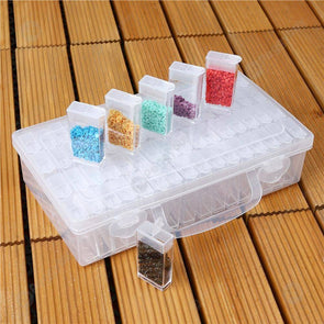 64 Slots Bottles Diamond Painting Storage Box Rhinestone Holder Case (2pcs)