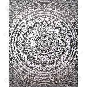 Boho Wall Tapestry Beach Towel Blanket Home Carpet (Mandala05)(150x130cm)
