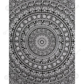 Boho Wall Tapestry Beach Towel Blanket Home Carpet (Mandala07)(150x130cm)