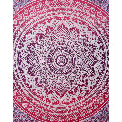 Boho Wall Tapestry Beach Towel Blanket Home Carpet (Mandala02)(200x150cm)