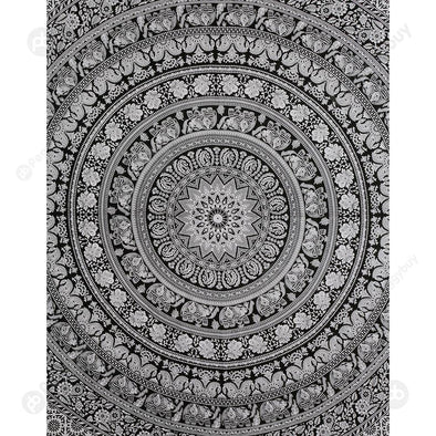 Boho Wall Tapestry Beach Towel Blanket Home Carpet (Mandala07)(200x150cm)
